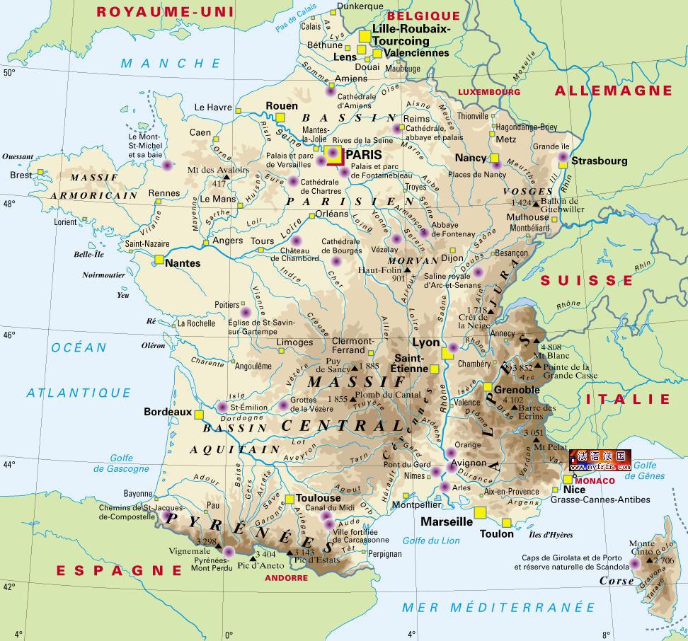 法国 地图 法语 版